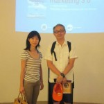 103 Rieko _ Haruyoshi Fujino from Japan _Glad to be here as one of marketer !!!_ _Satisfied with seeing